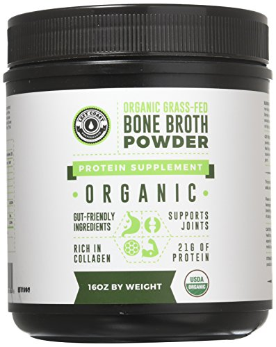 Organic Grass Fed Beef Bone Broth Protein Powder – 16oz, 20 Servings. Unflavored, Pure. Keto Friendly Protein Powder. Paleo, USDA Certified Organic, Left Coast Performance