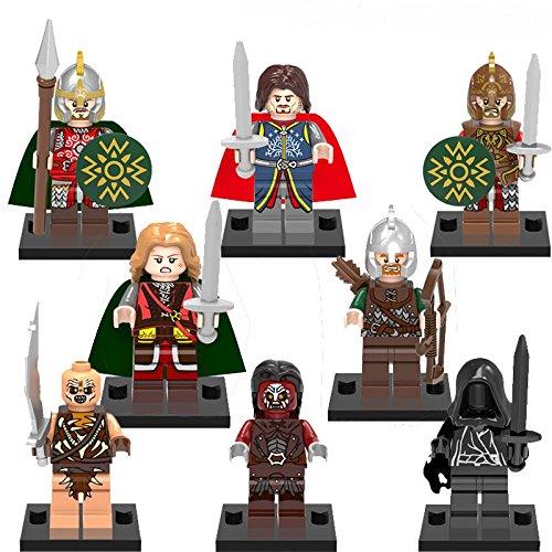 TONGROU 8PCs/set Minifigs Aragorn Archer Rohan Ruler Hobbit Toy