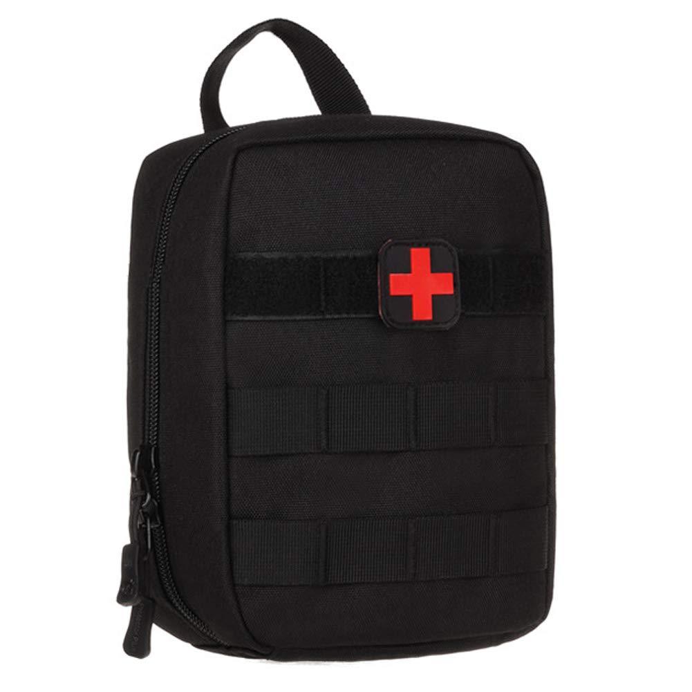 Selighting MOLLE Médico Bolsa de Primeros Auxilios Mochila Militar Multifunción Bolsa Táctica Compacta Botiquín Médico con Parche al Aire Libre para Caza