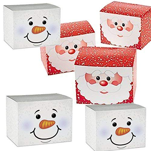 24 Christmas Holiday Cardboard Gift Boxes - 12