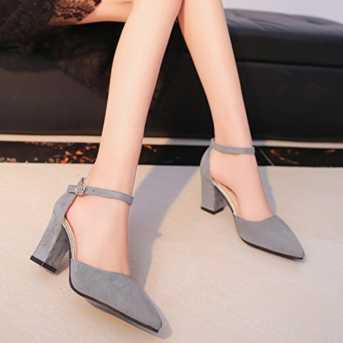 Sandals And Pair XYJHER Brown Jump High Summer Shoes Shoes Korean Sandals Women'S Edition A Sandals High Heeled Women'S Pointed Shoes Shoes Of BEwqaxrUE