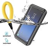 Samsung Galaxy S9 Plus Waterproof Case, [Floating Strap] IP68 Certificated Outdoor Full Sealed Shockproof Dustproof Anti Scratch Full Body Protective Underwater Case for Samsung Galaxy S9 Plus Black