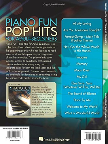 Piano fun pop hits for adult beginners bookaudio online brenda piano fun pop hits for adult beginners bookaudio online brenda dillon 9781458421104 amazon books fandeluxe