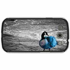New Style Customized Back Cover Case For Samsung Galaxy S3 Hardshell Case, Black Back Cover Design Goose Personalized Unique Case For Samsung S3