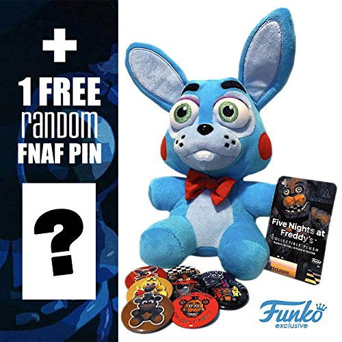 FunKo Five Nights at Freddy's Series 2 Toy Bonnie 6 Inch Plush Doll and FNAF Pin - Pin Plush Doll