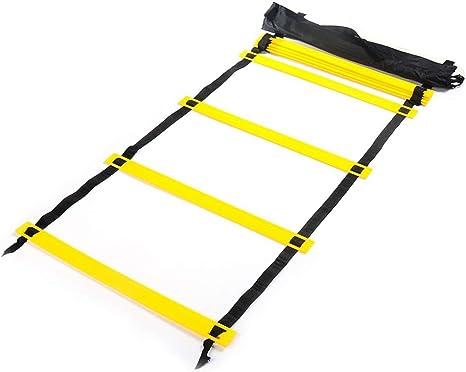 Didatecar Escalera de velocidad y agilidad, escalera, escalera, escalera, cuerda de entrenamiento: Amazon.es: Deportes y aire libre