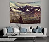 Alfalfa Wall Hanging Decor Nature Art Polyester Fabric Tapestry, For Dorm Room, Bedroom,Living Room - 80'' W x 60'' L (200cmx150cm) - The Alisga Mountains