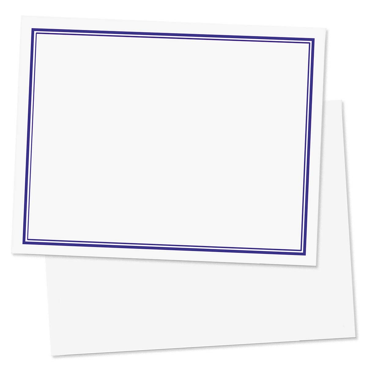 Navy Blue Bordered Postcards, Standard Size, 400 Count