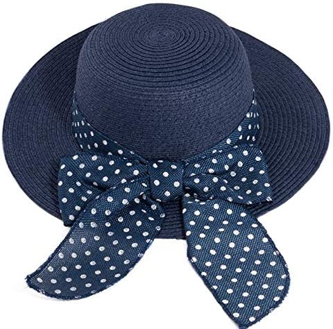 Fenside Country Clothing Ladies 100/% Straw Wide Brim Summer Sun Hat with Spotted Straw Bow Detail
