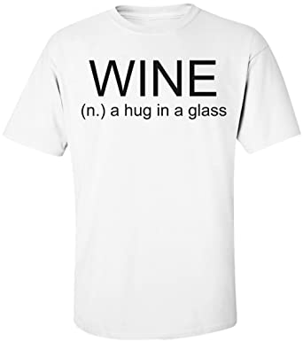 22517664 Amazon.com: Wine - n. A Hug In A Glass Men's T-Shirt: Clothing
