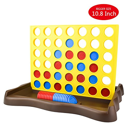 IAMGlobal 4 in a Row, Board Game, Four in a Row Game, Line Up 4, Classic Family Toy for Kids and Family for Fun (Yellow)