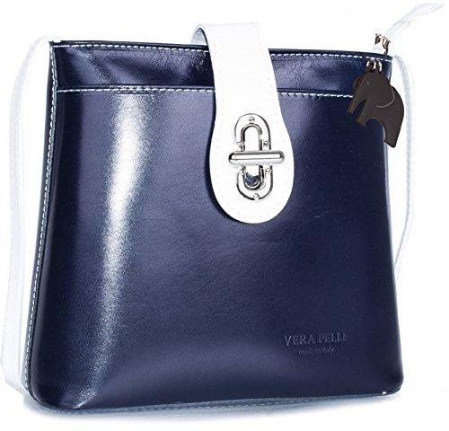 Protective Genuine Handbag Cross Italian Leather Bag Storage Body Shoulder LiaTalia with Uw8Tqx8