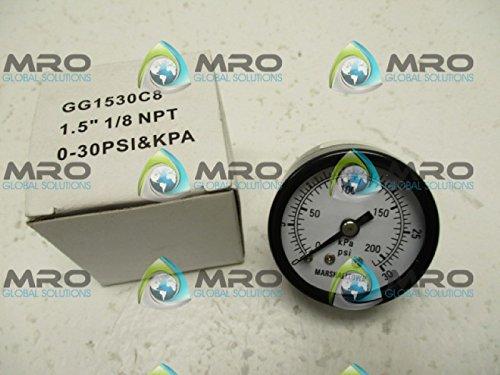 MARSHALLTOWN GG1530C8 GAUGE 0-30PSI/KPA 1.5