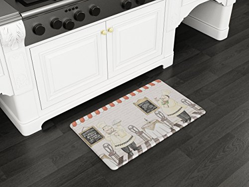 Art3d Premium Double-Sided Anti-Fatigue Chef Rug, Anti-Fatigue Comfort Mat. Multi-Purpose Decorative Standing Mat for the Kitchen, Bathroom, Laundry Room or Office, 18'' X 30'' by Art3d (Image #2)