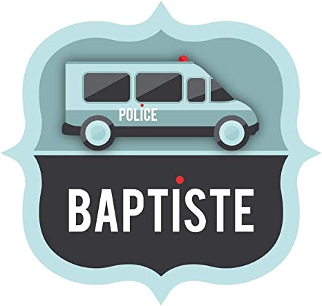 DECOLOOPIO Pegatina para Nombre de Camión Parche de la Policía: Amazon.es: Hogar