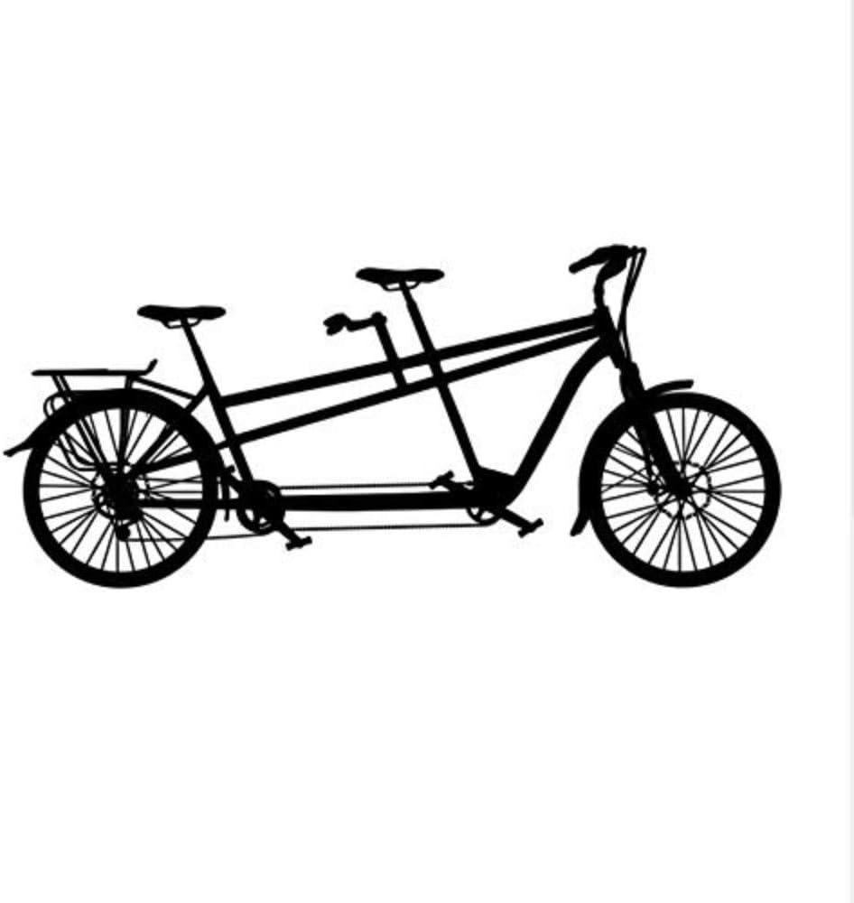58X24 cm Tándem Bicicleta Etiqueta de La Pared Ocio Deportes ...