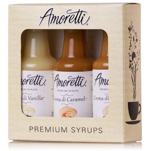 Classic Hazelnut Syrup (Amoretti Premium Creamy Classic Syrups 50ml 3 Pack (Crema Di Vanilla, Crema Di Caramel, Crema Di Hazelnut))