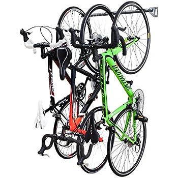 Amazon Com Monkey Bars Wall Bike Rack Stores 3 Bikes
