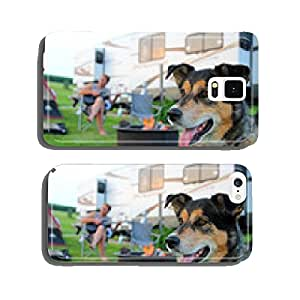 Dog at Campground in Front of Man Playing Guitar cell phone cover case iPhone5