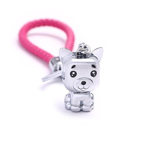 Amazon.com: Milesi Auto Llavero Parejas 3d Cute Perros ...
