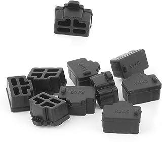 Heißer Verkauf 10 Stücke Schwarz Ethernet Hub Port RJ45 Anti Staubschutzkappe Schutzstecker für RJ45 Buchse # 1109