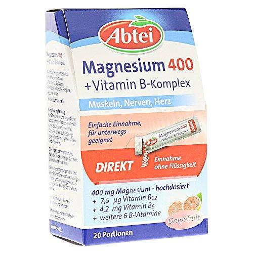 Abtei Magnesium 400 + Vitamin B Komplex, 20er