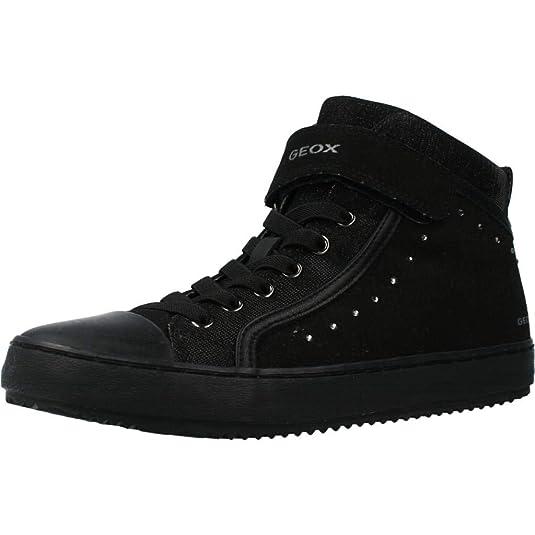Estrecho de Bering Jadeo huella dactilar  Geox J Kalispera Girl I, Zapatillas Altas para Niñas, Negro (Black), 24 EU:  Amazon.es: Zapatos y complementos