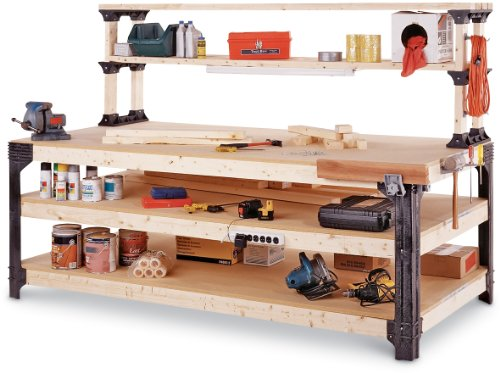 2x4basics 14429 Workbench And Shelving Storage System With Hooks And Clamps      Amazon.com