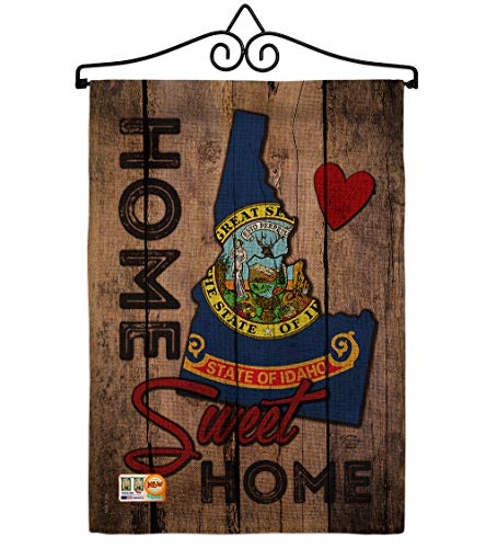 Ornament Collection GS191117-DB-02 State Idaho Home Sweet Burlap Americana States Impressions Decorative Vertical 13