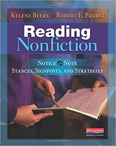 Reading Nonfiction: Notice and Note Stances, Signposts, and Strategies by Beers and Probst: This blog post contains free supplemental classroom resources to accompany these strategies!