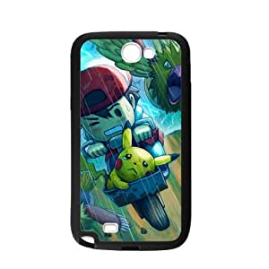 Pokemon Samsung Galaxy Note 2 N7100 Case Cover, Personalized Custom PC And TPU Rubber Case Protector