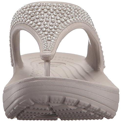 cf345e86098bb modelado duradero Crocs Sloane Diamante Flip W - sandalias con plataforma y  cuña Mujer