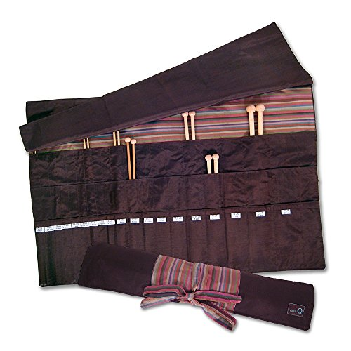 della Q Knitting Roll for Straight Knitting Needles; 016 Brown Stripes 151-1-016 by della Q