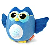Artoflifer HugMe - Baby Sound Machine | White Noise Machine | Baby Nursery Night Light Projector | Portable Baby Sleep Soother | Blue Stuffed Owl Toy | Sleep Aid with 13 Songs | Crib Mobile Toys: more info