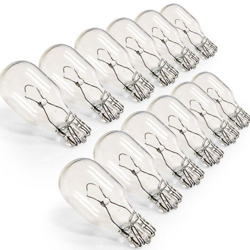 12w Wedge Base (10 Pack, 12 watt 12V T5 Wedge base Replacement bulbs T5 Low Voltage 12W)