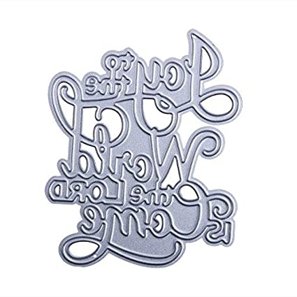 Letter Word Metal Cutting Dies Stencil DIY Scrapbooking Album Card Embossing