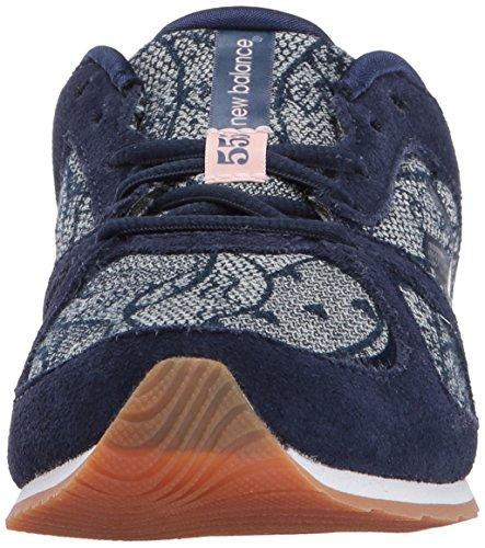 Ny Balans Kvinna 555v1 Sneaker Pigment / Denim Lace
