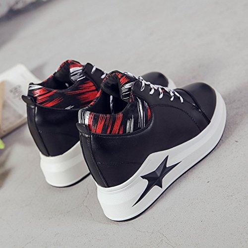 Mujer Zapatos 2018 Color Primavera Blancos tamaño de de pequeños 38 Casuales Negro de Zapatos Zapatos Zapatos Mujer Casuales 1xwqWU4E6S