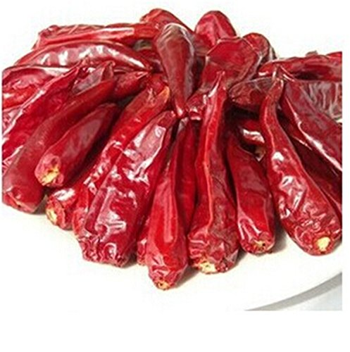 Sichuan specialty : High quality whole dried red chiles pepper medium hot as Szechwan hotpot condiment (Hot Chile Pepper)