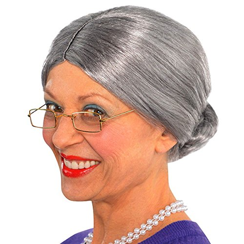 Old Lady Hair Costume (Old Lady Wig Costume Accessory)