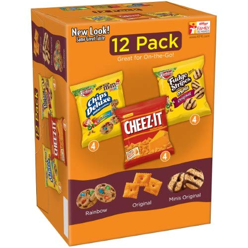 Keebler Snacks Variety Pack, Cheez-It/Mini Rainbow/Mini Fudge (Pack of 36)
