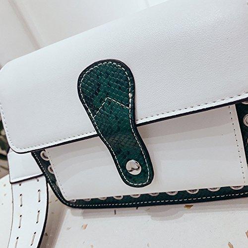 Sac Main White Sac En Sauvage Bandoulière À À Mode Bandoulière Blanc Meaeo 4Pg681
