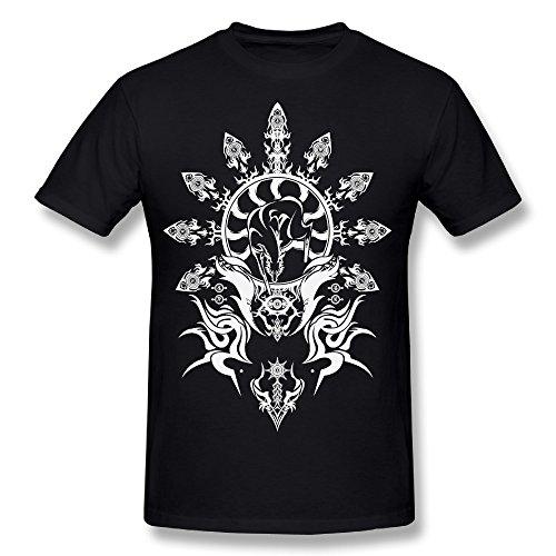 Tumblr Static Hakumen Emblem Crest Man Black Short Sleeve Tshirt