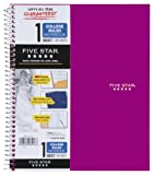 Five Star Spiral Notebook, 1-Subject, 100 College-Ruled Sheets, 11 x 8.5 Inch Sheet Size, Berry Pink / Purple (72446)