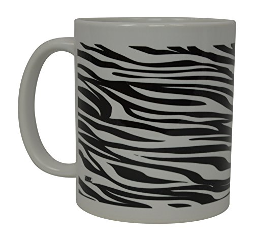 Best Coffee Mug Zebra Print African Jungle Novelty Cup Great Gift Idea For Women Office Work Adult Humor Employee Boss Coworkers -
