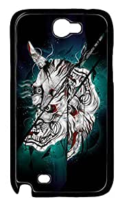 Fit Case with Abstract Painting Dark Helmet Printed Hard Back Case Cover for Samsung Galaxy Note 2 N7100