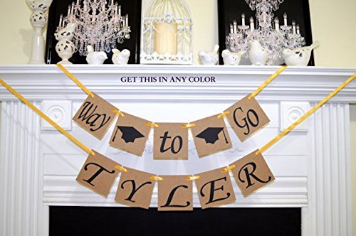 Graduation Banner Way To Go Rustic Garland Party Decoration College