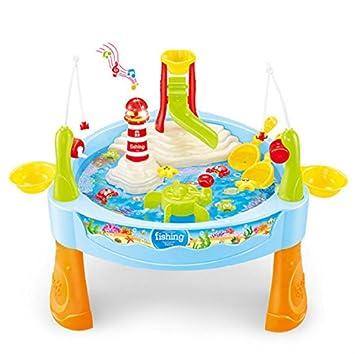Spieltisch Wassertisch Wasserpark mit Musikalisch Fisch Angeln Spiel ...