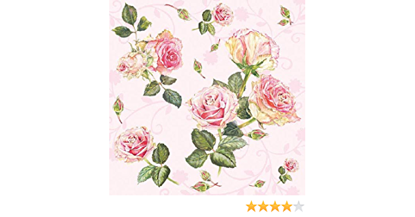 3-ply 33 x 33cm 4 Individual Napkins for Craft and Napkin Art. 4 Paper Napkins for Decoupage Margareth