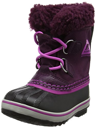 Sorel Girls' Childrens Yoot Pac Nylon, Purple Dahlia, Foxglove, 13 M US Little Kid ()
